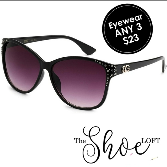 CG Rhinestone Frame Sunglasses